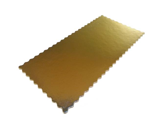 Rectangular fluted under-cake golden board