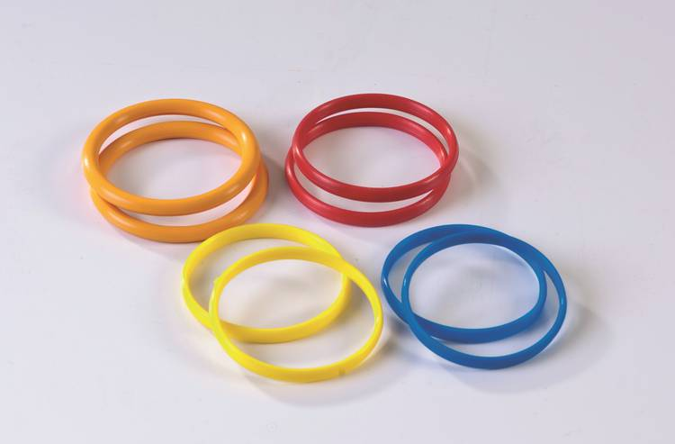 Rubber rings for rolling pin