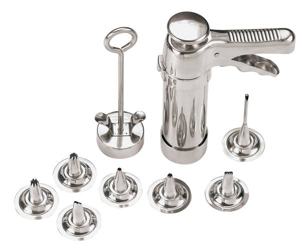 Stainless steel cookie press