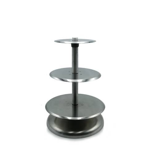 Multi-level cake stand in aluminum