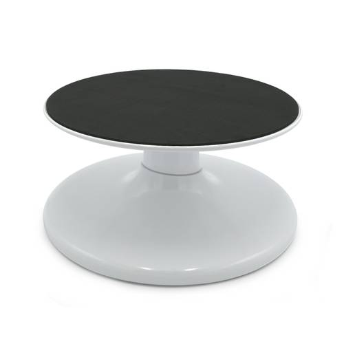 Tilting and revolving cake stand