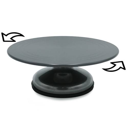 Rotating cake stand in aluminium
