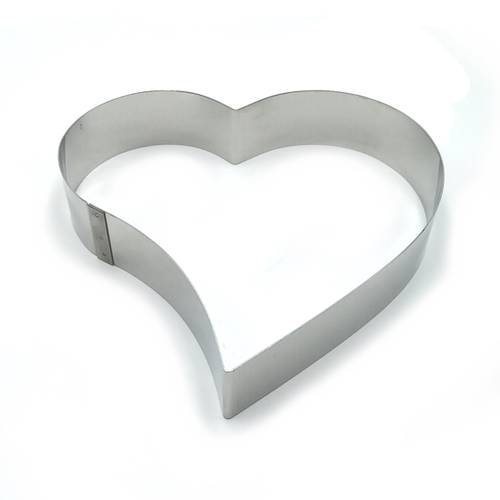 Stainless steel heart-shaped cake rings