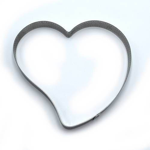 Heart-shaped low perforated stainless steel cake rings