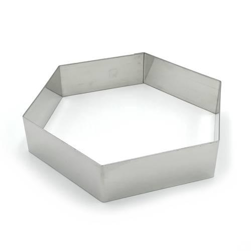 Ringe für sechseckige Kuchen aus Edelstahl