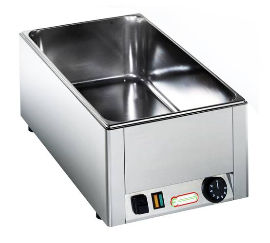 Electric bain marie with shaped vat GN 1/1