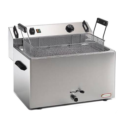 Commercial deep fryer 16 liters with drain tap