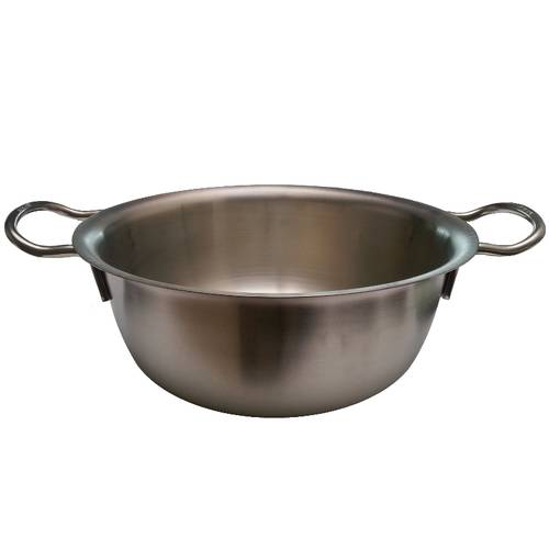 Flat bottom mixing bowl with handles