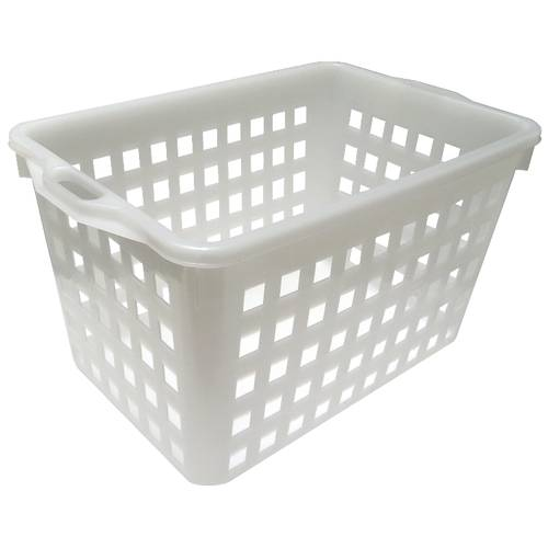 Perforated rectangular bread basket 35 kg.