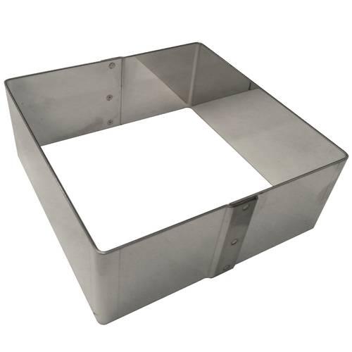 Quadratischer Ausstecher aus Edelstahl