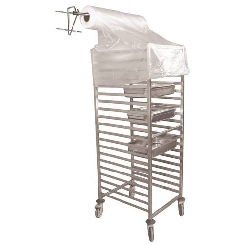 Disposable plastic bakery rack covers