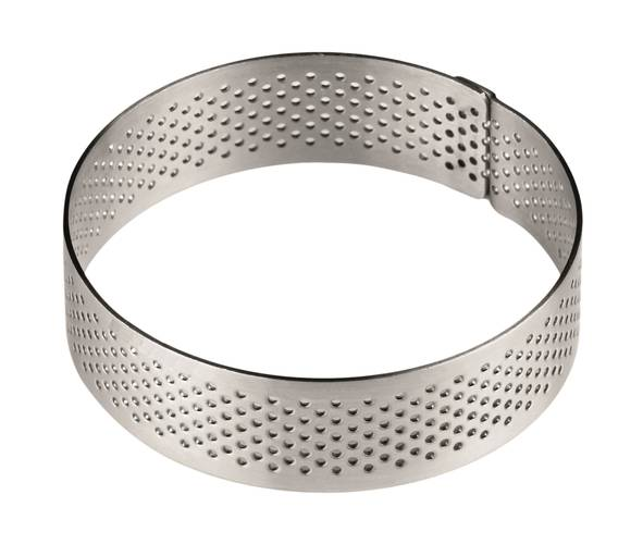Peforated stainless steel cake rings