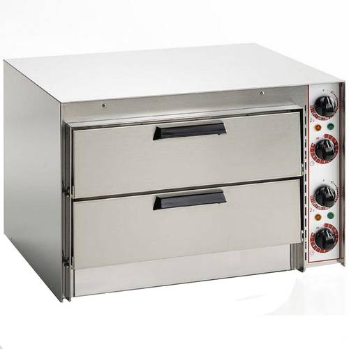 Electric pizza oven with 2 chambers 41x36 cm