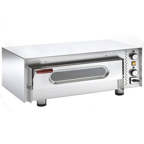 Professional electric pizza oven with glass door and 62x42 cm chamber