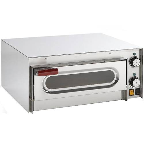 Electric pizza oven with glass door and 41x36 cm chamber