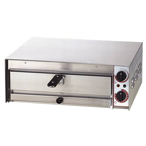 Electric pizza oven with extractable grid