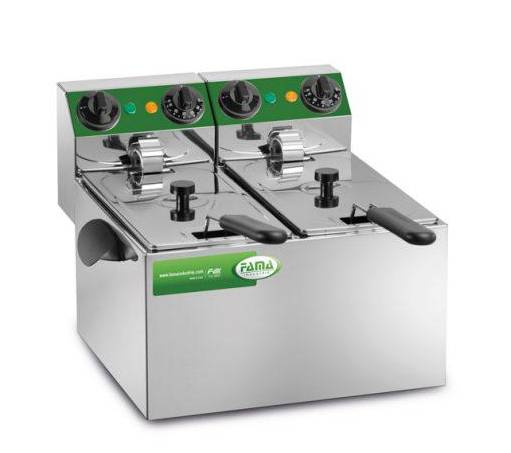 Deep fryer with 2 basins of 3 liters MFR240