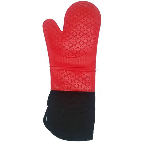 Lined silicone oven gloves
