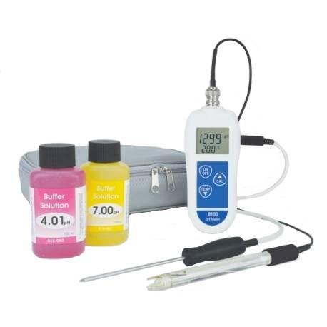 Phmetro con termometro digitale professionale 8100 Ph Kit