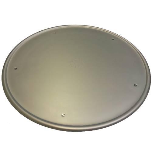 Aluminium pizza tray with rim and feet