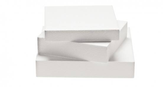 Square polystyrene cake dummies
