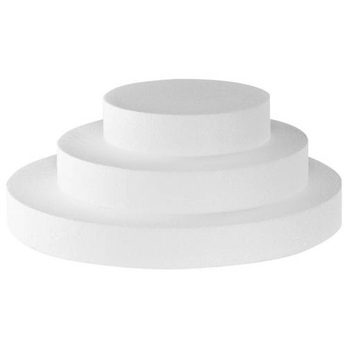 Round polystyrene cake dummies