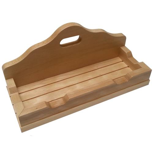 Wooden pizza peel stand