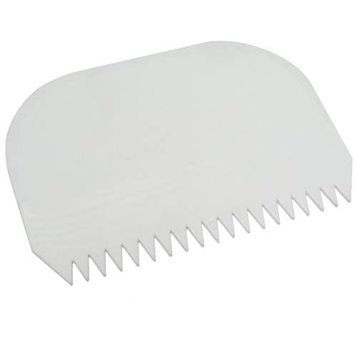 Toothed cake scraper