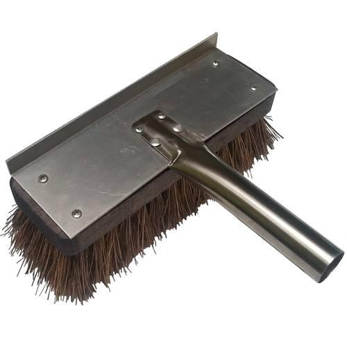 Ricambio spazzolone fibra naturale cm 22x7 con attacco inox diametro cm 3 Lilly