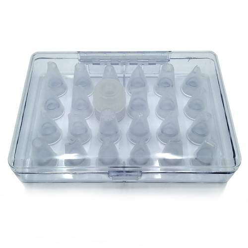 Box set of polycarbonate pastry tubes