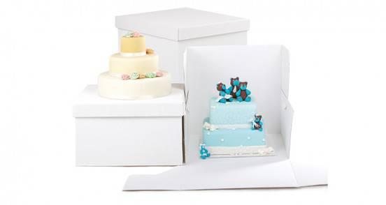 Scatole per torte rigide in Kanneté bianco
