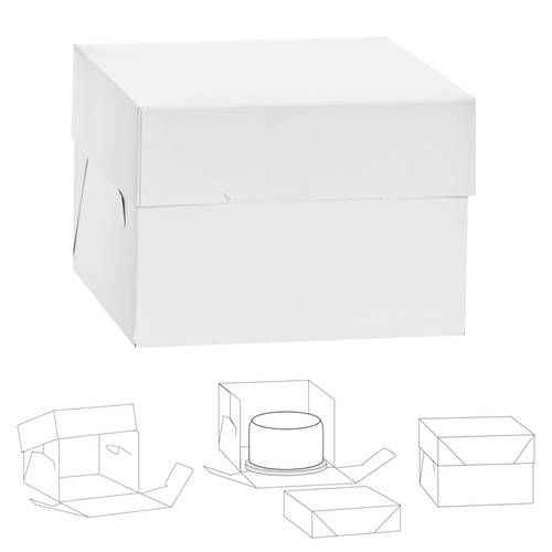 Cardboard cake boxes with lid