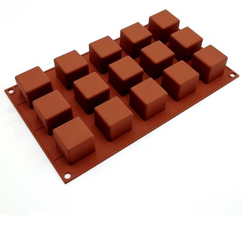Silicone moulds for cubic cakes