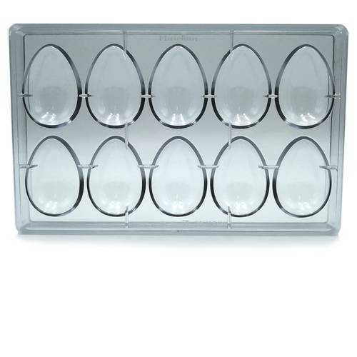 Polycarbonate mould for 10 easter eggs