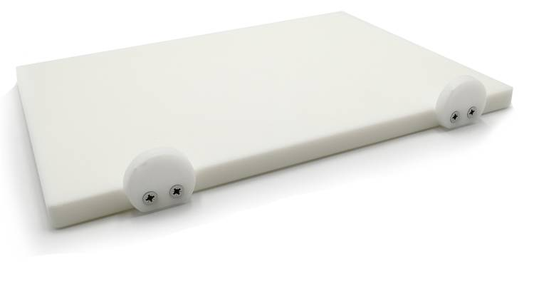 White polyethylene cutting board with stoppers 30x40 cm