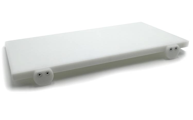White polyethylene cutting board with stoppers 50x25 cm