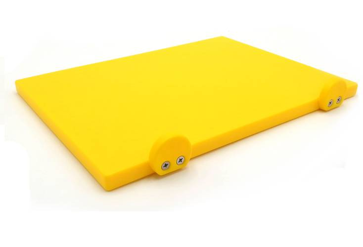Yellow polyethylene cutting board with stoppers 30x40 cm