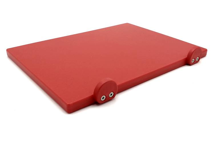 Red polyethylene cutting board with stoppers 30x40 cm