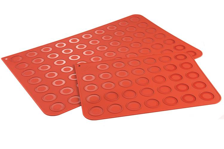 Silicone baking mat for macarons