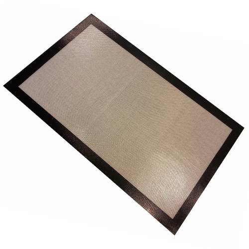 Non-stick glass fibres and silicone pad