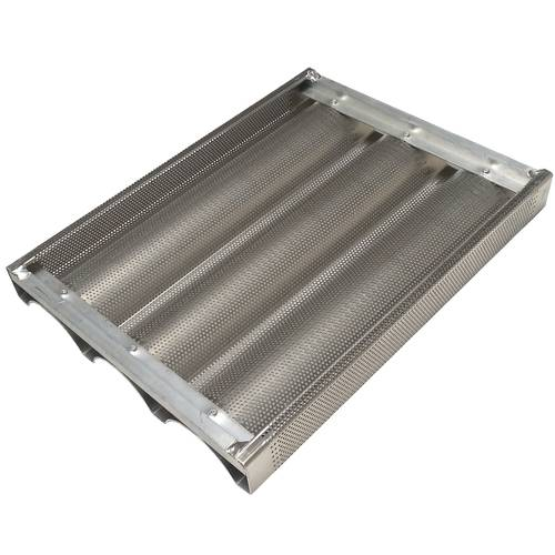 Teglia da forno per baguette forata in alluminio cm 30x40