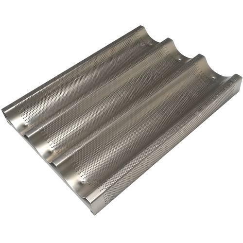 Perforiertes Backblech aus Aluminium für Baguettes 30x40 cm