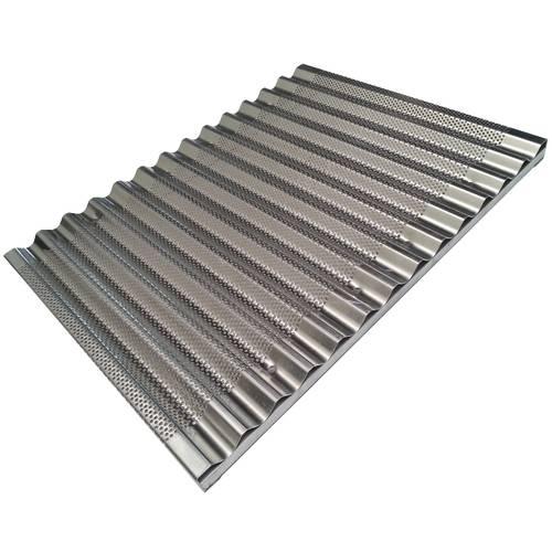 Perforiertes Backblech aus Aluminium für Brotstangen 30x40 cm