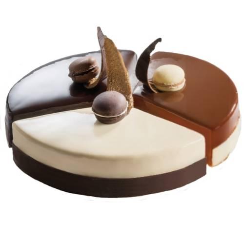Edelstahlringsatz für modularen Kuchen mit drei Segmenten