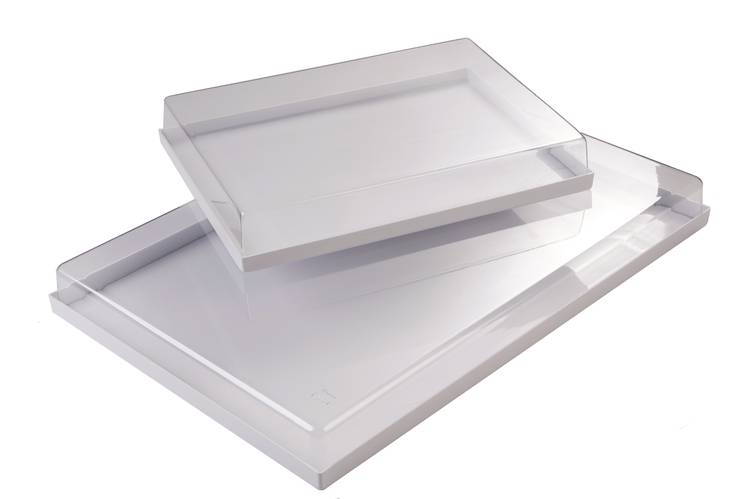 Pastry plastic tray with lid cm. 60x40
