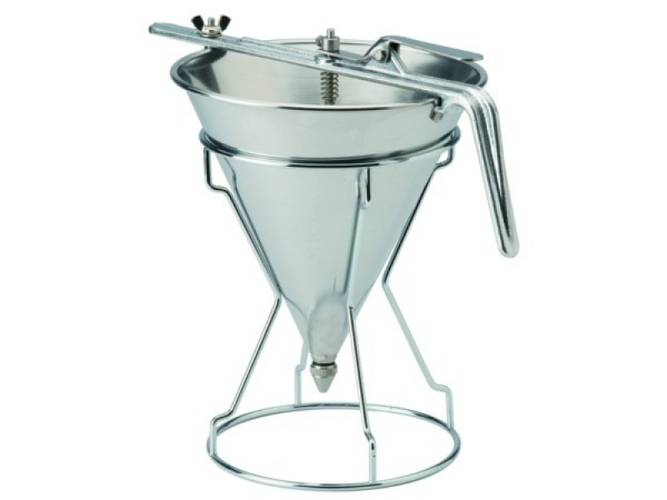Stainless steel automatic confectionery funnel